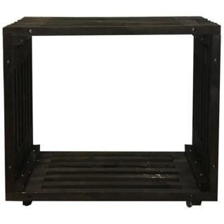 Bar table wood black -  47.2x12.8x43.3in.