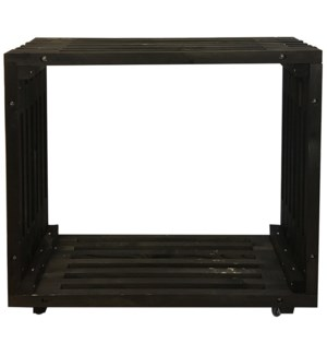 Bar table wood black -  47.2x12.8x43.3in.