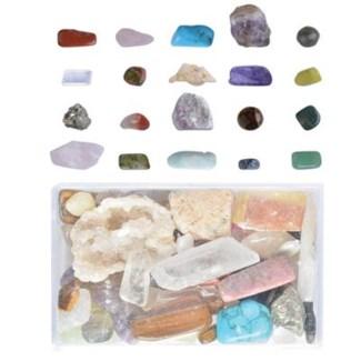 Minerals mixed in box M. Real minerals. 5,1x8,1x3,3cm. oq/24,mc/48 - FD
