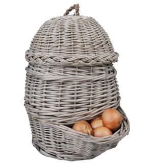 Onion basket grey. Willow Bran