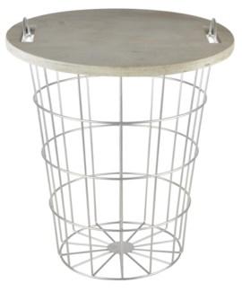 Table basket. Fir Wood, metal. 35,0x35,0x42,3cm. oq/6,mc/6 Pg.58