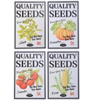 """""""Ad sign flower/seeds ass. Alu, LC"""""""