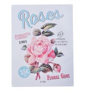 """Ad sign roses. Aluminum. OS, LC"""