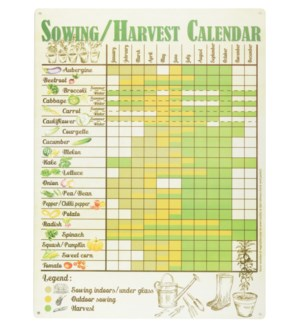 Sowing/Harvest Calendar.