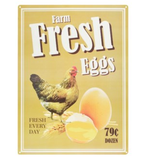 Ad sign fresh eggs.Alum