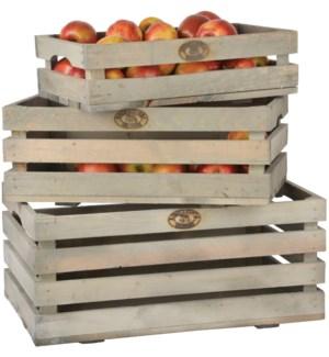 Fruit crates set of 3. Pinewoo