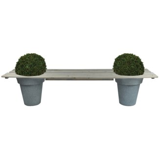 Pot bench for 2 pots - 71.25x17.5x2 inches
