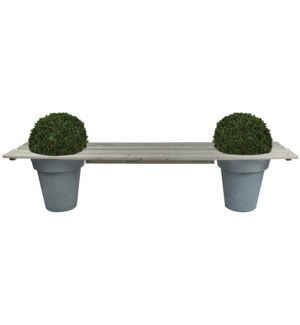 Pot bench for 2 pots