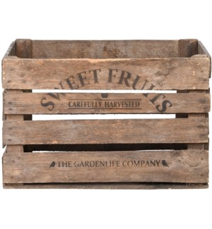 Apple crate wood -  20.1x16.7x11.9in.