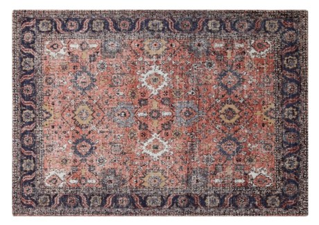 Anatolia Rust Carpet, 4x6 100 % Cotton, machine woven, 200gm/sqf India CURRENTLY OUT OF STOCK