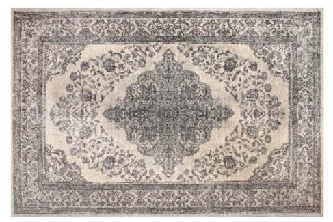 Emporer Ivory Grey Carpet, 4x6 100 % Cotton, machine woven, 200gm/sqf India