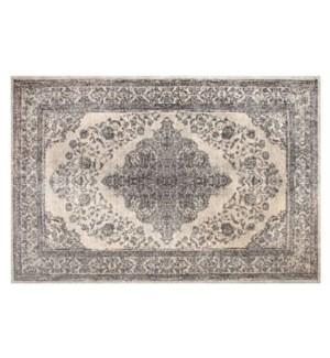 Emporer Ivory Grey Carpet 4x6'