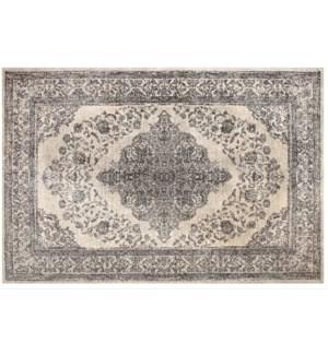 """Emperor Woven Carpet, 5x8 feet, Ivory Grey"""