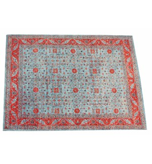 Glory Blue Carpet, 5x8ft, 100 % Cotton, Made in India