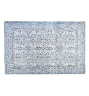 Greece Blue Carpet, 5x8ft, 100 % Cotton, Made in India