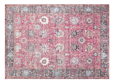 Jose Rose Carpet, 4x6 100 % Cotton, machine woven, 200gm/sqf India