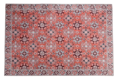 Queensland Rust Carpet, 4x6 100 % Cotton, machine woven, 200gm/sqf India