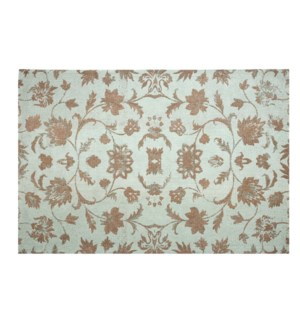 Caspian Carpet, Washed Turquoise,  4x6ft, 48 x 72 inches, 100 % Cotton, machine woven, 200gm/sqf In