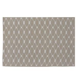 """""""Lattice Carpet, Beige, 4x6"""""""