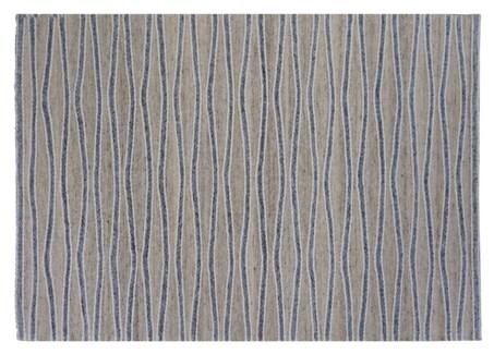 Hydra Carpet, Beige/Grey, 4x6ft, 48 x 72 inches, 100 % Cotton, machine woven, 200gm/sqf India