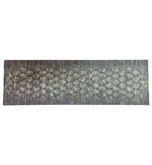 Highway Army Green Carpet Runner 2x7,100% Cotton, Machine Woven, Made in India