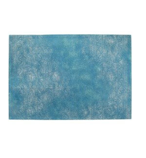 """Alia Woven Carpet, 4x6 feet, Fresh Blue"""