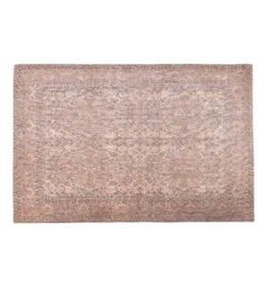 """Greece Woven Carpet, 4x6 feet, Peach"""