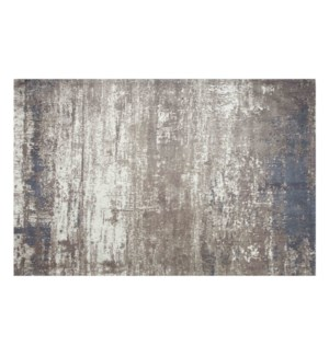 """Sea Beach Woven Carpet, 5x7 feet, Grey Beige"""