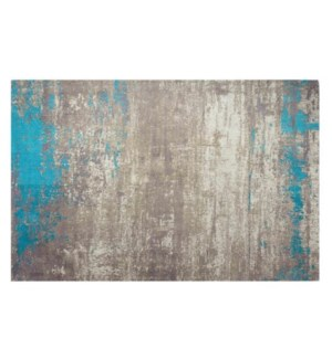 """Sea Beach Woven Carpet, 4x6 feet, Blue Beige"""