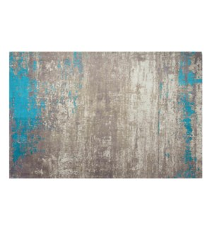 """Sea Beach Woven Carpet, 5x7 feet, Blue Beige"""