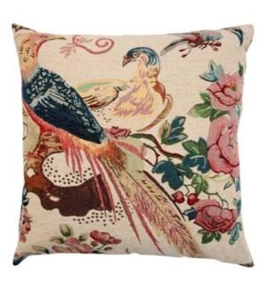 """""""Peacock Woven Cushion, 23.6x23.6in, Multi"""""""