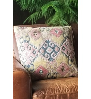 """""""FL1024 Woven Cushion, 23.6x23.6in, Red Yellow"""""""