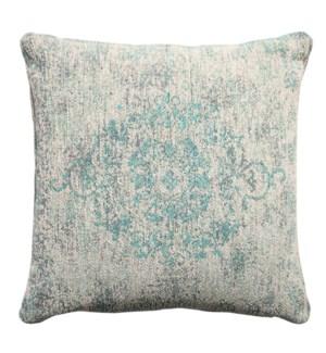 """Divine Woven Cushion, 17.7x17.7in, Jade Pearl"""