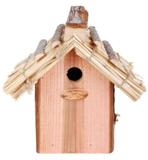 Nest box wren thatched roofDNO
