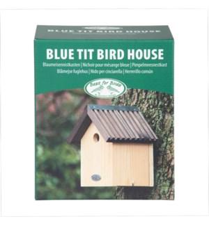 Birdhouse blue tit in giftbox