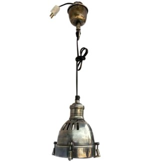 Gibsons Hanging Lamp. Antique Silver Finish. 5.2Dx27.6inch