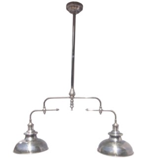Dual Ceiling Lamp, 31.5x47.2inch. Brass w.Antique Silver Finish