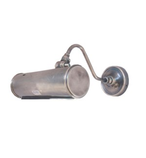 Wall Lamp Tube Shape, 9.8x9.8inch. Brass w.Antique Silver Finish.
