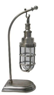 Pippa Table Lamp. Antique Silver Finish. Solid Brass. 5.51x8.66x17.71inch