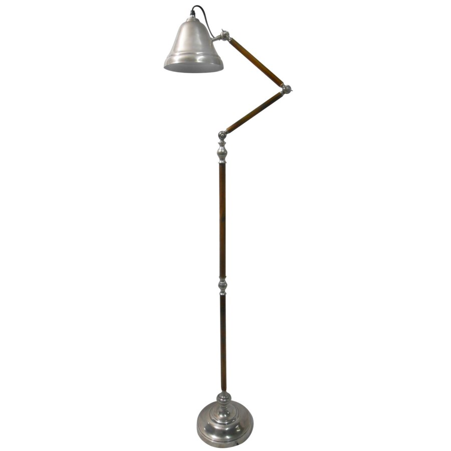 """Rex Floor Lamp Antique Silver, OS"""