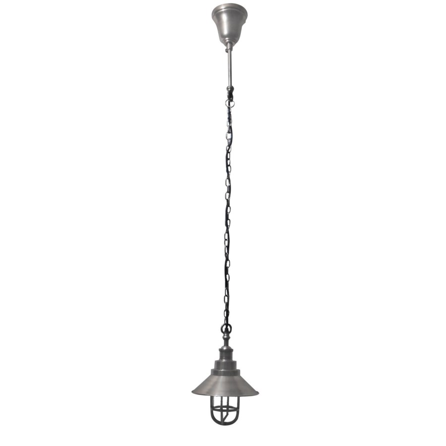 Pippa Hanging Lamp.Antique Silver Finish. Solid Brass. 8.27x8.27x39.37inch