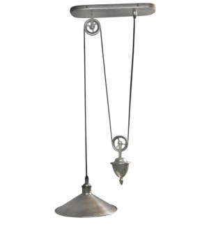 Langley Hanging Lamp Single. Antique Silver Finish. Solid Brass.10.24x15.75x59.84inch ON SALE 50% OF