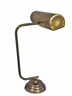 Norman Desk Lamp, Vintage Clerk Style, Antique Brass, 18.1 Height x 5.1 Base