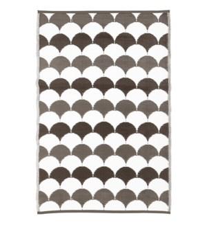 Garden carpet graphics grey/wh