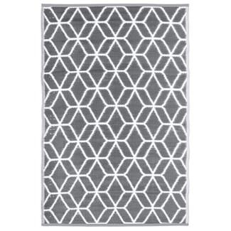 Garden carpet graphics beige/white - 48x71x0.5 inches