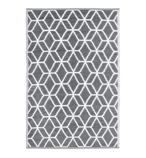 Garden carpet graphics beige/w