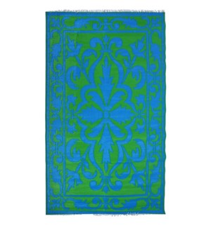 Garden carpet persian green/bl