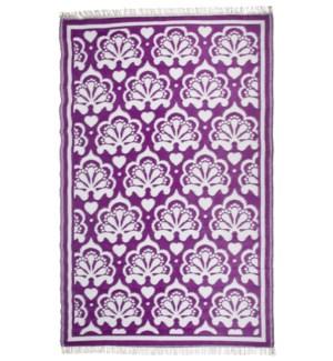 Garden carpet persian purple/ white - 60x95.25x0.5 inches