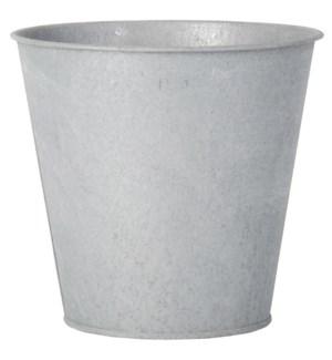 """""""Old zinc flowerpot. Old Zinc., FD, OS"""""""