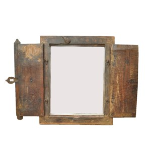 Old Window Mirror Frame Wooden